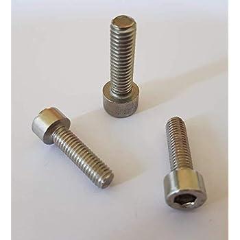 100 St/ück Zylinderkopfschrauben DIN 912 A2-70 Edelstahl M 8 x 20 mm Zylinderschrauben Innensechskant 6 mm
