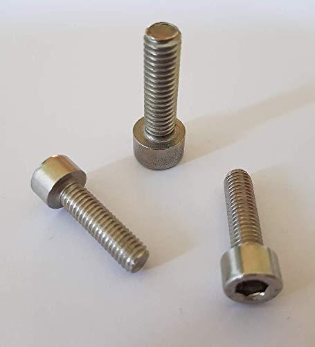 25 Stück Zylinderschrauben/Zylinderkopfschrauben (Vollgewinde) mit Innensechskant DIN 912 V2A Edelstahl M4/M5/M6/M8 // EHK-Verbindungstechnik (M4x20)
