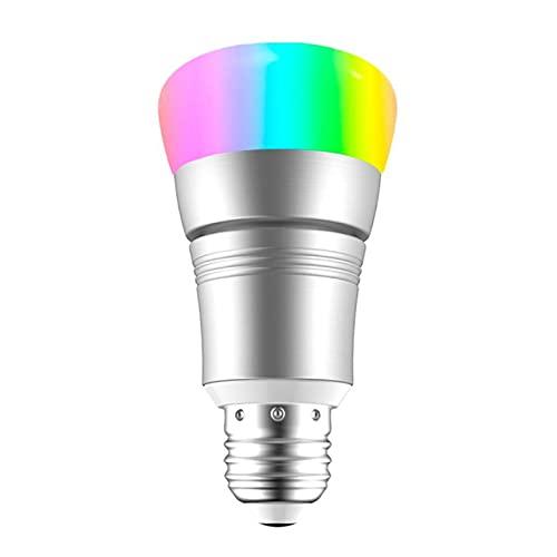 Bombilla LED Inteligente, 7W 600lm RGB Bombilla LED Que Cambia Color, Aplicación Control Remoto Compatible con Alexa, Google Home, Bombilla WiFi Inteligente para Decoración del Hogar Fiesta