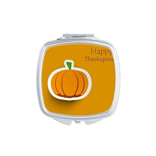 DIYthinker Résumé Thanksgiving Day Turquie Motif carré Maquillage Compact Miroir de Poche Miroirs Mignon Petit Cadeau Portable à la Main Multicolor