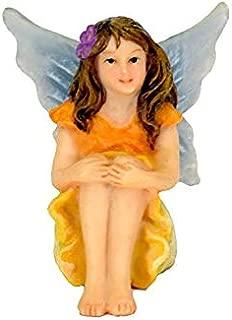 Twig & Flower Miniature Fairy Garden Fay (The Super Cute, Hand Painted Garden Fairy)