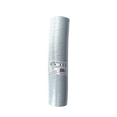 Gaine de tuyau flexible et extensible en aluminium blanc 50 mm de diamètre, de 1 à 3 m, couleur fumée