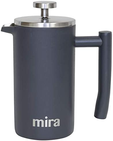 MIRA 12 oz Stainless Steel French Press Coffee Maker Double Walled Insulated Coffee Tea Brewer product image