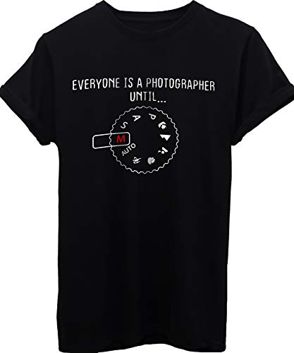 iMage T-Shirt Tutti Sono Fotografi Fino alla modalità Manuale Fotografia-Divertenti - Uomo-XL-Nera