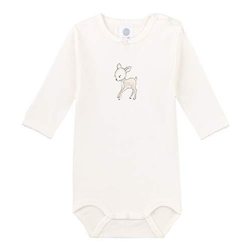 Sanetta Baby-Mädchen Langarmbody Broken White Kleinkind Unterwäsche-Satz, beige, 080