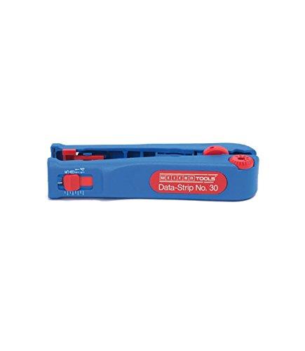 WEICON 52000030 Data-Strip No.30 Mikroabisolierer mit Seitenschneider für Netzwerkkabel, 125mm, blau/rot