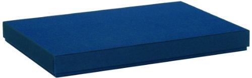 Rössler Papier 1352453900 Boxle Boîte de rangement de documents Bleu marine Format A4