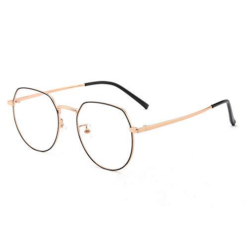 CHABED Anti-Blaulicht Anti-Blaulichtbrilleretro Anti-Blaulicht-Brille, Computer-Arbeitsbrille, Strahlenfeste Schwarze Beine Mit Schwarzem Rahmen Für Erwachsene