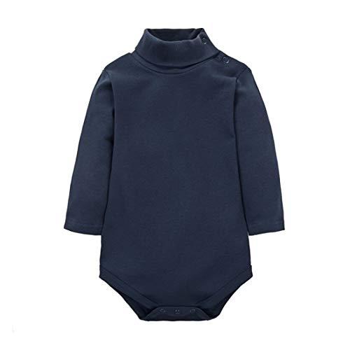 CuteOn bébé Garçons Filles Solide Couleur De base Col roulé Coton Bodysuit Top - Royalblue 9 Mois