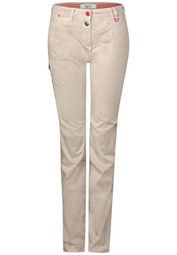 Cecil Gesa Cargo Pantalones Informales, Dusty Sand Beige, W36/L30 para Mujer