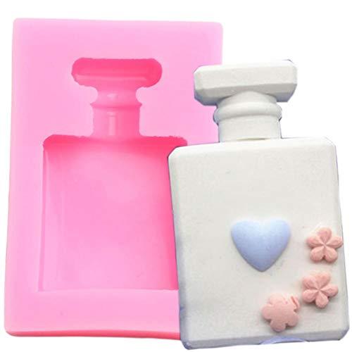 WYNYX Botella de Perfume 3D Molde de Silicona Molde de Cera de Arcilla de Resina Herramienta de Decoración de Pastel de Fudge Molde de Caramelo de Chocolate Caramelo