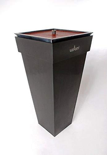 Flammschale, H=90 cm, schwarz, galvanisch verzinktes Stahlblech incl. schwarzer Wachsschale befüllt mit Wachs in der Farbe altrot