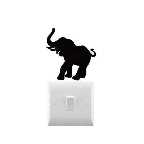 AiEnmaw Novedad elefante calcomanía pequeño interruptor de luz pegatina portátil para el hogar interruptor de luz decoración extraíble arte pegatinas 8 x 8 cm