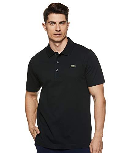 Lacoste Herren Sport, Poloshirt L1230-00, Einfarbig, Gr. Large (Herstellergröße: 50)(T5), Schwarz (031 NOIR)