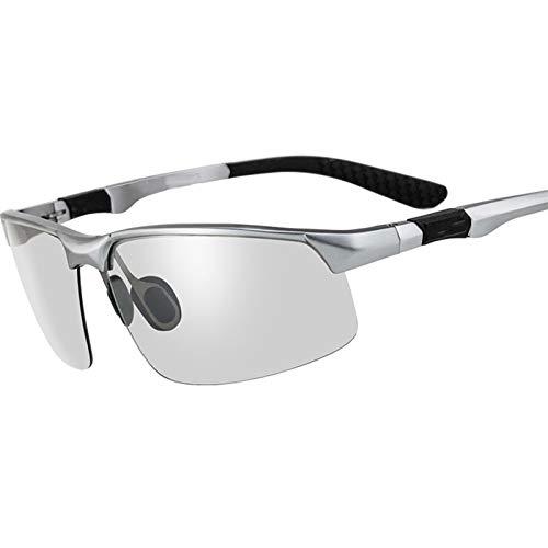 LDH Decoloración Inteligente Gafas de Sol polarizadas Gafas De Conducción Anti-deslumbrantes, Lentes A Prueba De Explosiones, Copas De Día Y Noche UV400 Protección