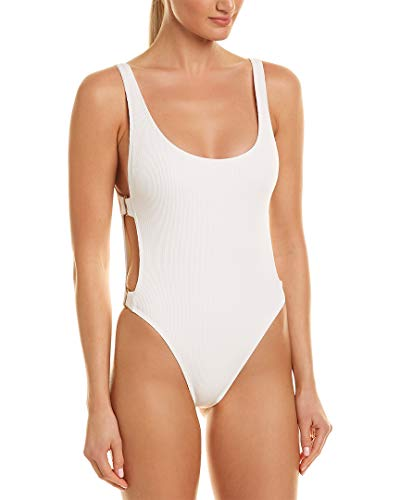 LSpace Women's Ridin' High Mayra Over The Shoulder One Piece Swimsuit White 12