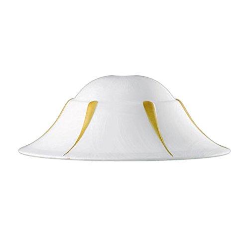 Deckenleuchte hängende Lampe 30 cm weiße Dekoration D Speer Lanze Bernstein F42