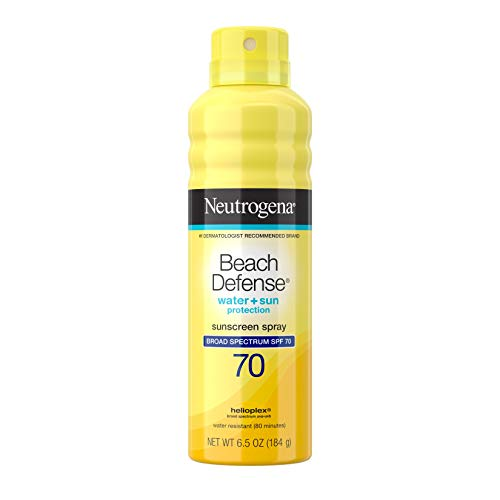 Neutrogena Beach Defense Spray Sunscreen with Broad Spectrum SPF 70 Fast Absorbing Sunscreen Body Spray Mist WaterResistant amp OilFree UVA/UVB Sun Protection 65 oz