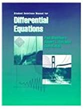 Student Solutions Manual for Blanchard/Devaney/Hall's Differential Equations