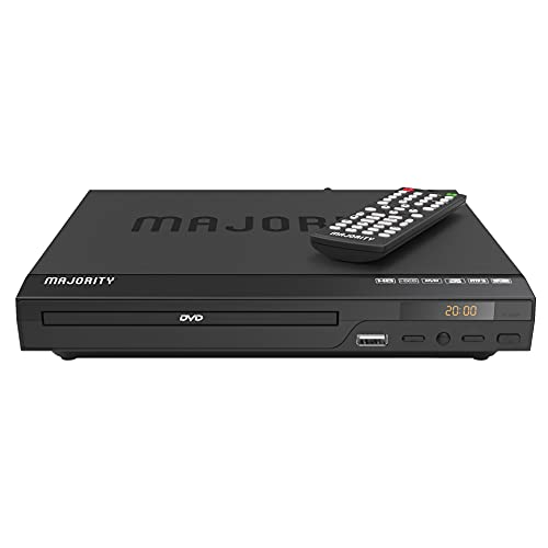 Lettore DVD Majority per TV con ingresso HDMI | Multi connessione e multi regione | Riproduzione USB con telecomando