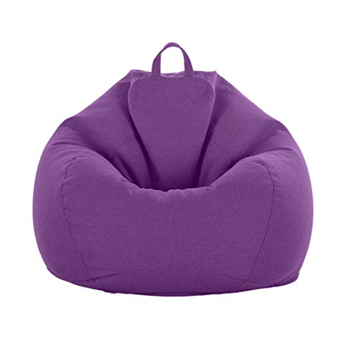 Bean Bag Chairs Sofa Cover Lazy Sofa Cover without Filler, Leisure Fabric Cover for Lazy Sofa, for Adults And Children,Purple,L