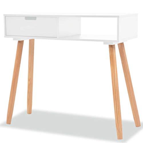 vidaXL Pinienholz Massiv Konsolentisch Tisch Schreibtisch Konsole Ablagetisch, Monterey-Kiefer, Mehrfarbig, One Size