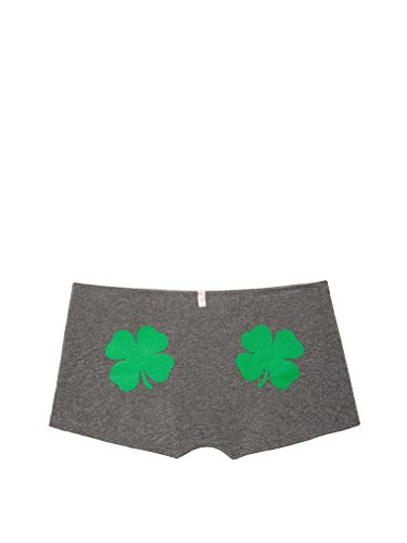 Victoria's Secret Pink Logo Underwear Panty Boyshort Shorties (Medium, Shamrock)