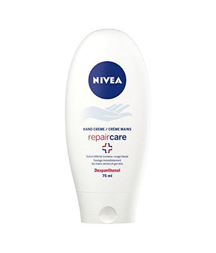 Nivea Repair Care Hand Creme mit Dexpanthenol, 4er Pack (4 x 75 ml), Sofort-Hilfe für trockene und rissige Haut