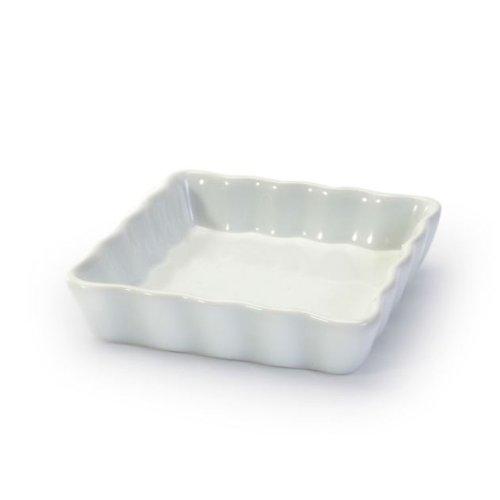 BIA Cordon Bleu White Porcelain Square Individual 4.5 inch Quiche / Tart Dish -Set of 6