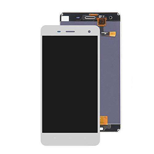 KTZAJO Pantalla LCD original para Xiaomi Mi 4 M4 Mi4 LCD + pantalla táctil digitalizador Asamblea con marco de reemplazo ajuste para Xiaomi Mi4 LCD pantalla táctil (color: negro con marco)