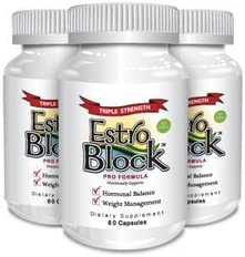 Estroblock PRO TRIPLE STRENGTH - 3-Pack 180 Capsules total, DIM & Indole 3-Carbinol For Natural Hormonal Hormone Balance, Acne product image
