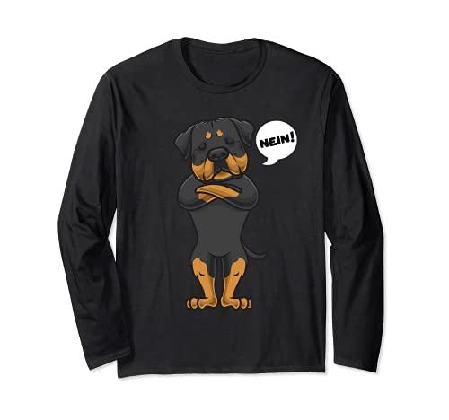 Sturer Rottweiler Hund lustig Rotti Hundefan Langarmshirt