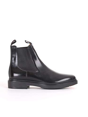 Santoni Luxury Fashion Herren MGWB10027NERIOLCN01 Schwarz Leder Stiefeletten | Jahreszeit Outlet