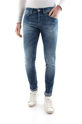 DONDUP George AY5 Jeans Uomo Denim Medium Blue 32