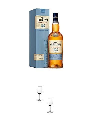 Glenlivet Founders Reserve Single Malt Whisky 0,7 Liter + Nosing Gläser Kelchglas Bugatti mit Eichstrich 2cl und 4cl - 2 Stück