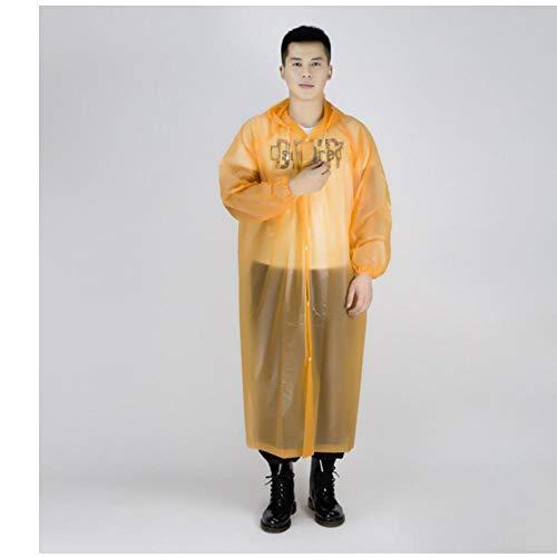 zhaoyangeng Transparant Regenjas Vrouwen Mannen Regenkleding Mannelijke Regenjas Waterdichte Regenhoes Regenjas Motorfiets Regenjas Outdoor Poncho- Oranje- One Size