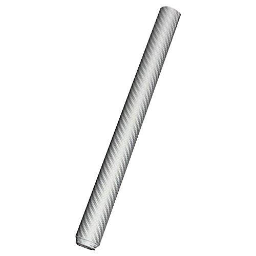 Sticker - TOOGOO(R)3D Struktur fuehlbare Struktur DIY 30x127cm 3D Car Wrapping Carbon Fiber Folie Aufkleber Klebe Dekor fuer KFZ Auto iPhone6S Silber