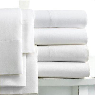 Linens Limited - Sábana 100% algodón Egipcio - Trama 400 Hilos - Blanco, Doble