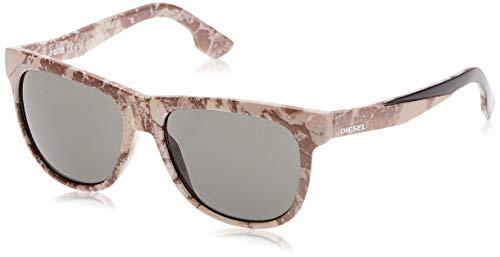 Diesel Sonnenbrille DL0076 05N-56-16-145 Gafas de sol, Gris (Gr), 56.0 Unisex Adulto