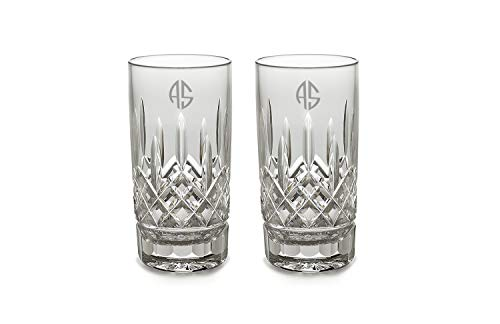 Waterford Lismore High Ball Pair, 12-Ounce (Personalized Clear)