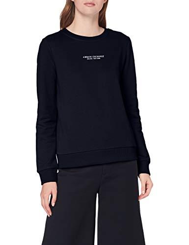 Armani Exchange Sweatshirt Sudadera, Navy, XS para Mujer