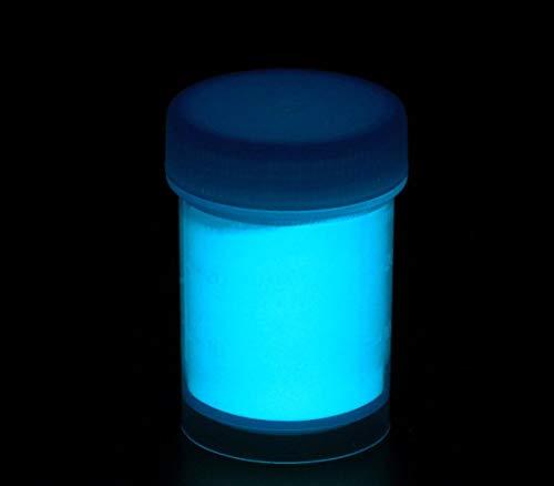 Langnachleuchtendes Pigment 25g - blau-grün - Schwarzlicht, Farbpigment, UV, Neon
