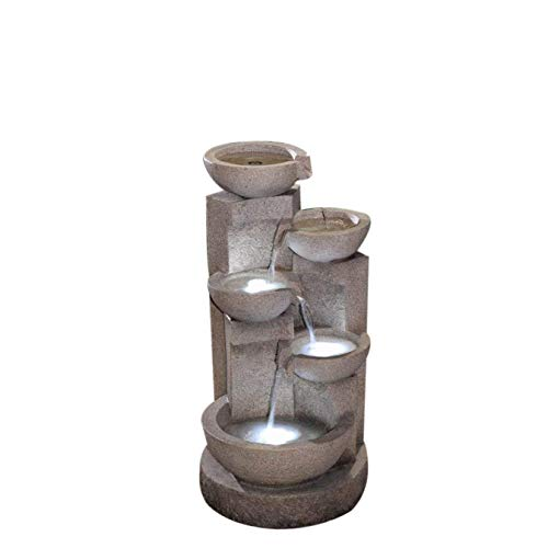 Jeco Multi-Tier Bowls Water Fountain with Led Light