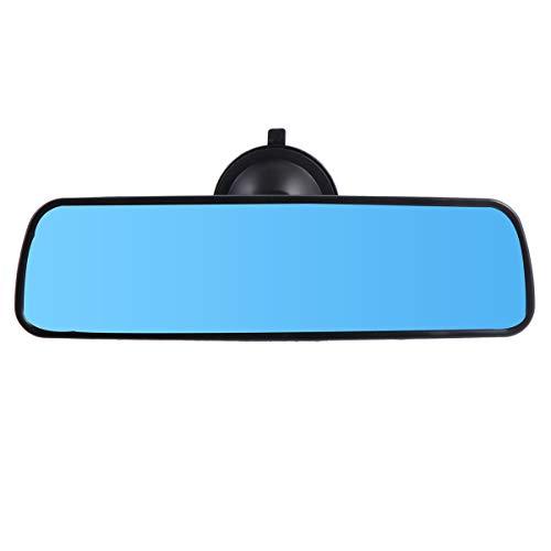 Garneck Rückspiegel, blau, mit Saugnapf, flach, Weitwinkel, Blendschutz, Innenspiegel für LKW