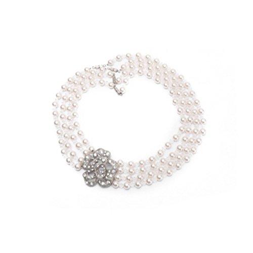Utopiat Audrey Style Multi Strand Pearl Jewelry Joyas para niñas inspiradas en Bat (6+ años)