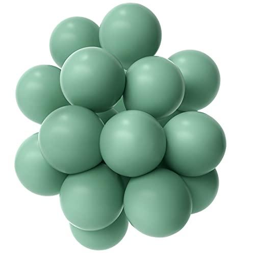 Janinus Globos verdes de salvia de fiesta globos de 10 pulgadas 50 unids verde oliva de los globos del partido de la salvia verde de látex Globos de cumpleaños para el partido