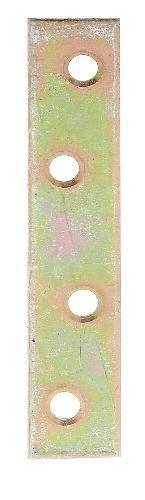 GAH-Alberts 336486 Flachverbinder, schmal - galvanisch gelb verzinkt, 80 x 15 mm / 8 Stück