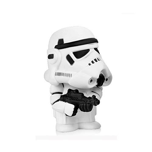 Vinyl Bobble-Head Auto-Dekoration 1PCS Mini Schwarz Darth Vader Weiß Stormtrooper Puppe Star Wars Action-Figur Auto-Innenraum-Modell-Dekoration-Geschenk (Color : B)