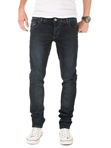 PITTMAN Herren Jeans 407 Skinny fit (ggf. eine Nummer größer bestellen), Blau (Navy Blazer 193923), W31