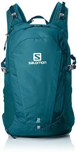 Salomon Trailblazer 20 Mochila Ligera para Senderismo o Ciclismo, 20 L, Unisex Adulto, Azul (Mediterranea), Talla única